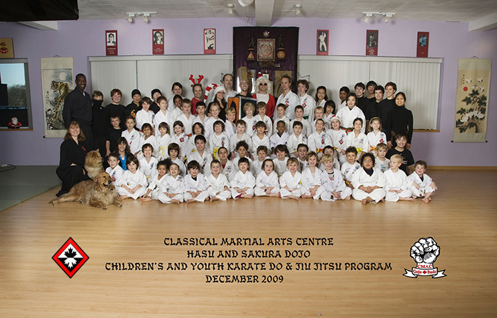Children's Class Photo with Crests - Classical Martial Arts Centre