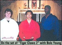 Picture of Sensei Williams, Sensei Dixon, and Bolo Yeung