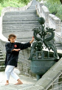 Senpai Phillips at the Great Wall - Classical Martial Arts Centre