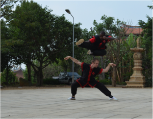 adult karate training trip in China