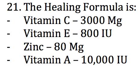 Healing formula
